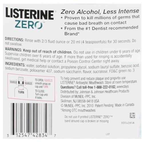 Listerine Zero Clean Mint Mouthwash 1 L