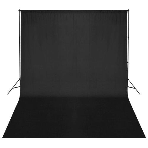 vidaXL Backdrop Support System 500x300cm Black Photography Studio Background