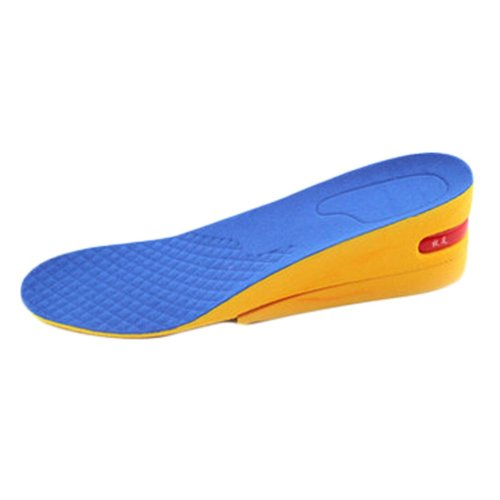 Comfortable 2-Layer 5 cm Height Increase Insole Shoes Pad for Women, Blue