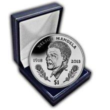 British Virgin Islands 2014 Nelson Mandela Commemorated Unc. CuNi Coin in a box