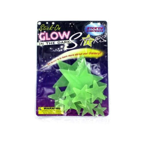 Bulk Buys KK061-48 Glow In The Dark Stars - Pack of 48