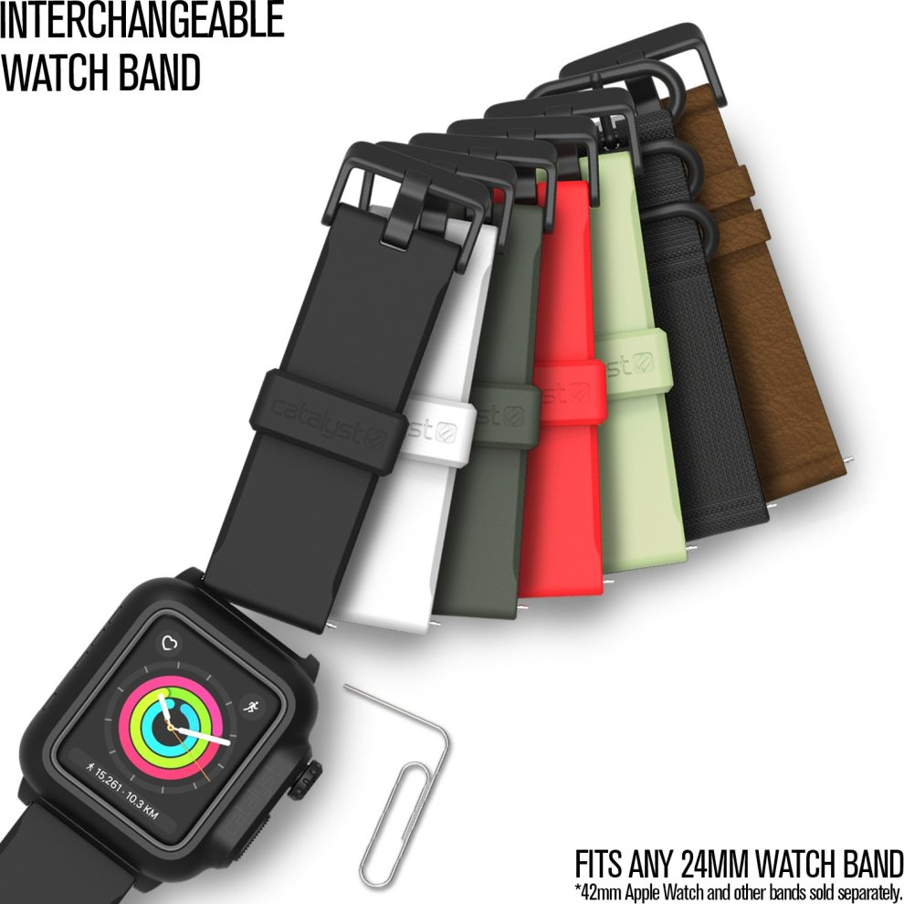 huge discount 643f3 4d4e4 Catalyst case for 42mm Apple Watch Series 3 & Series 2 - Waterproof Shock  Resistant (Stealth Black)