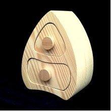 Two Drawer Unpainted Pine Trinket Box