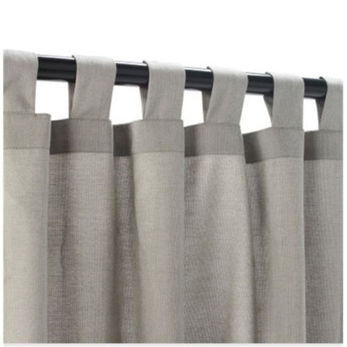 Outdoor Curtains CUR96DVS 54 in. x 96 in. Sunbrella Outdoor Curtain with Tabs - Dove