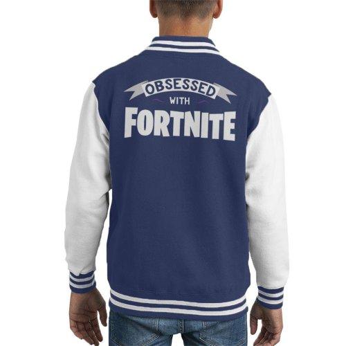 Obsessed With Fortnite Kid's Varsity Jacket
