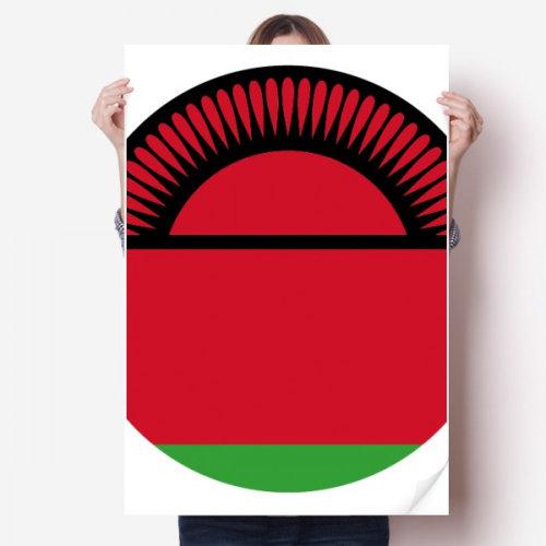 "Malawi Africa National Emblem Sticker Poster Decal 31x22"""