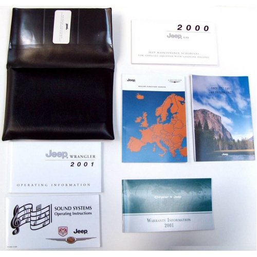Chrysler Jeep Genuine New Service Folder & Operating Manuals 2000 / 2001
