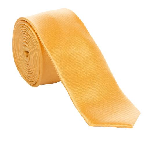 Yellow Slim Satin Tie #C1885/2