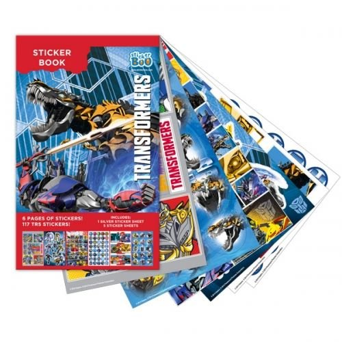 TRANSFORMERS Sticker Book 6 Sheets 117 Stickers