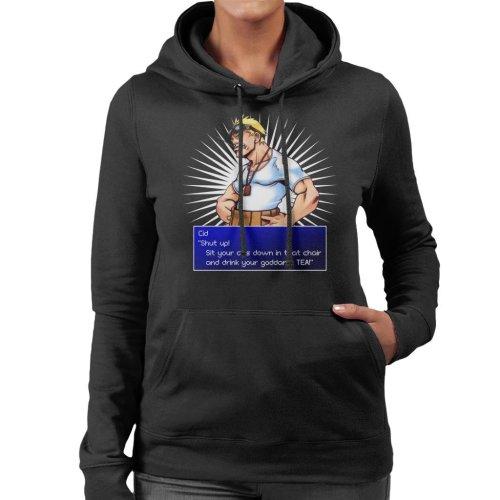 Cid Shut Up Quote Final Fantasy VII Women's Hooded Sweatshirt
