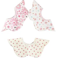 3 Pieces of Baby Bibs Baby Feeding Bib Waterproof [D]