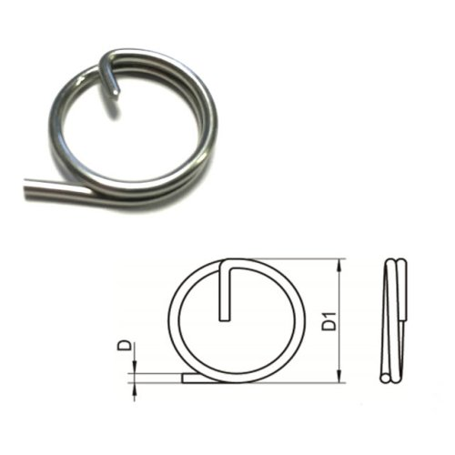 Split Cotter Ring T316 (A4) Marine grade stainless steel 1 x 11 mm