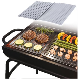 Large 2 PCS BBQ Barbecue Grill Stainless Metal Sheet Grilling Cooking