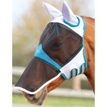 Shires Fine Mesh Fly Mask With Ears & Nose Ext