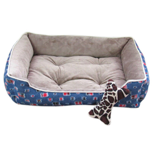 Fashion Pet Bed Pet House Rectangle Doghouse Kennel for Small Cat Dog Blue