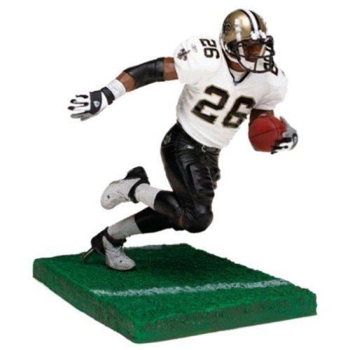 McFarlane Toys NFL Sports Picks Series 6 Action Figure Deuce McAllister (New Orleans Saints) White Jersey with Eye Black