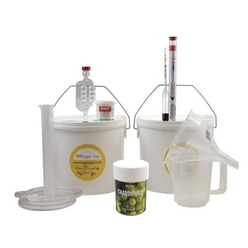 Starter Wine Making Set - Muntons Chardonnay 6 Bottle Size With Equipment