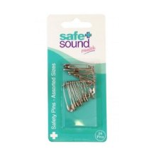 Safe & Sound Safety Pins Assorted Size 24s