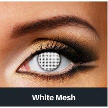 White Mesh Contact Lenses - Halloween Contact Lenses