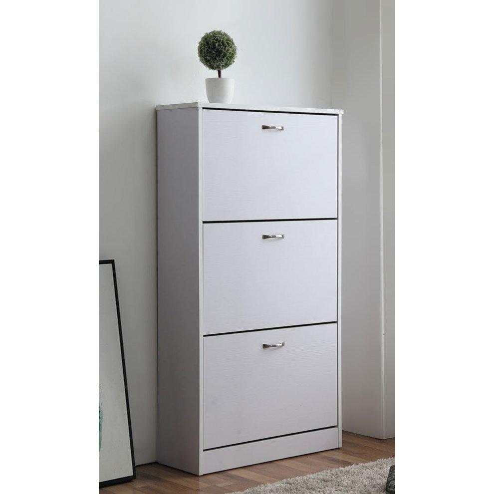 lowest price de384 c6519 3 Drawers Shoe Rack Footwear Storage Hallway Cabinet Organiser