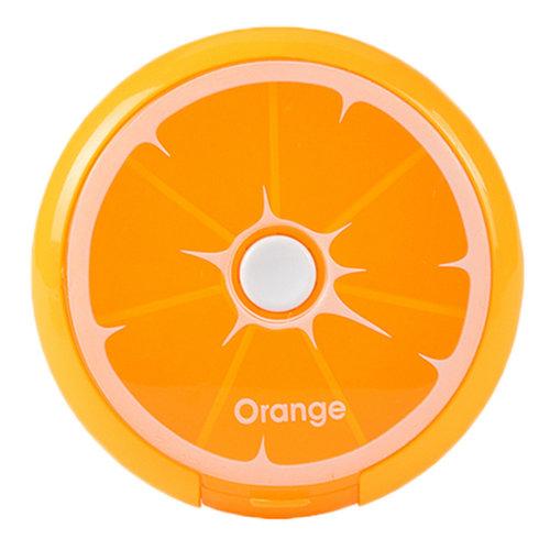 Cute 7 Day Pill Reminder Medicine Storage Container Pill Case, Orange