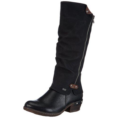 Rieker 93655, Women's Riding Boots, Black (Schwarz/Schwarz/Kastanie/00), 6 UK (39 EU)