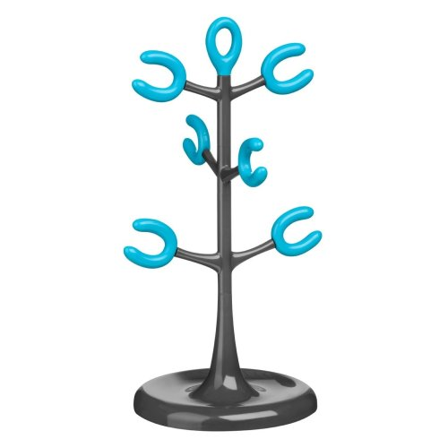 6 Cup Mug Tree - Grey/Blue