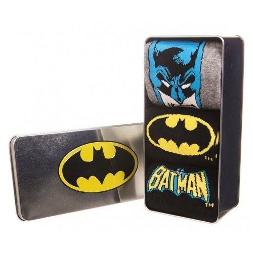 Batman 3 Pack of Men's Socks in Gift Tin