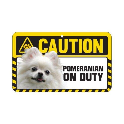 Pomeranian Caution Sign