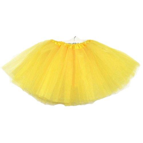 [YELLOW]Lace Plain Ballet Dress Yarn Child/Audlt Ballet Tutu,One Size