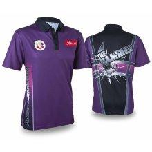 XQmax Darts Andy Hamilton Replica Match Shirt Purple Size S QD9200320
