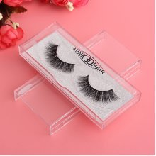 1 Pair 3D Handmade Black Thick Mink Eyelashes Natural False Eye Lashes  Beauty Makeup