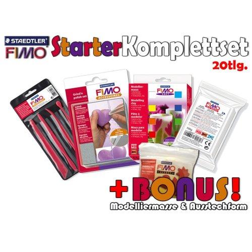 Staedtler Fimo Soft Modelling Starter Set Set of 20 with Modelling Clay / Cutter