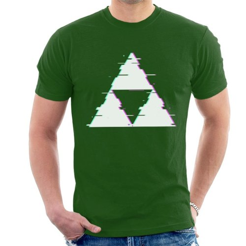Glitch Triforce Legend Of Zelda Men's T-Shirt