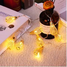 Mesh Cage Treadrop Christma Decoration String Light