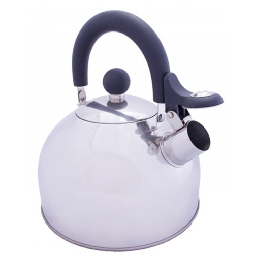 Vango 1.6L Stainless Steel Kettle With Folding Handle (Silver)