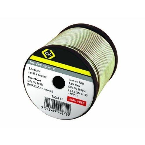 CK T6052 51 Lead Free Soldering Wire 1mm x 500g Reel