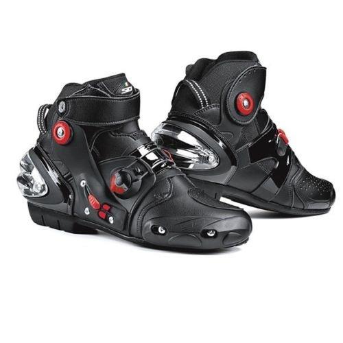 SIDI Streetburner Sports Motorcycle Boots Black