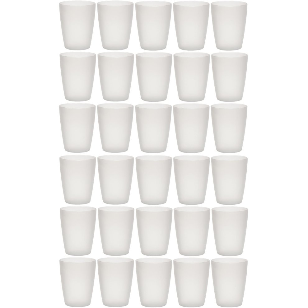 idea-station NEO plastic cups 250 ml reusable , 30 pieces, transparent,  stackable, can also be used as water glasses, cocktail glasses, as party