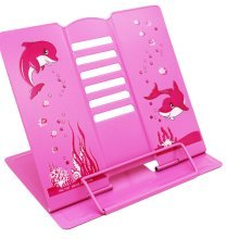 Book Stand Book Holder Adjustable Foldable Book Stand Cute [S]
