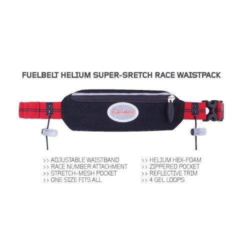 Fuelbelt Helium Super Stretch Race Black/Rush Red