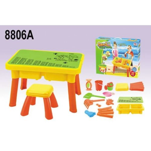 224 & Vinsani 21 PC Sand \u0026 Water Table with Cover and Stool Educational Multiplication Creative