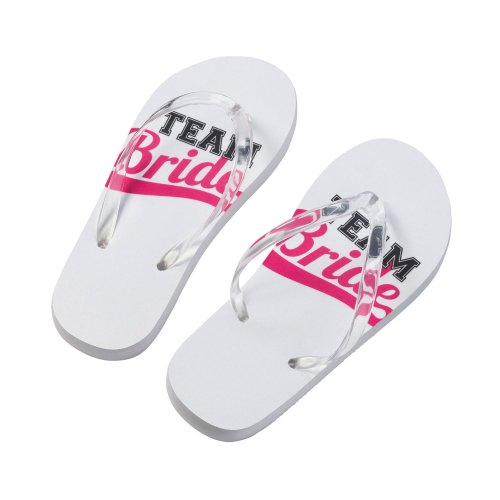 Team Bride Flip Flops Medium