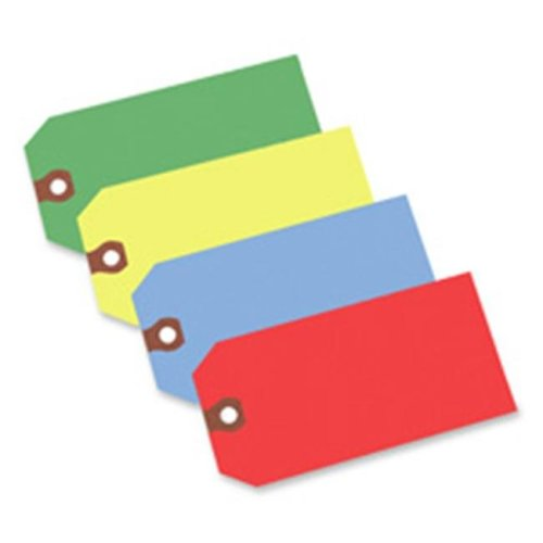 Consumer Products  Shipping Tag- No 5- Plain- 4-.75in.x2-.38in.- Yellow