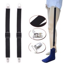 Mens Shirt Stays Holder Elastic Uniform Business Style Suspender Shirt Garter