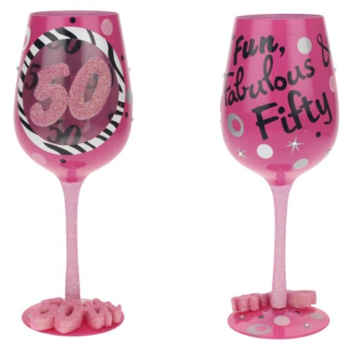50th Birthday Wine Glass