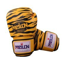 Tiger Stripes Adult Boxing Gloves Training Gloves BLACK YELLOW, 10 Ounce