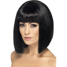 Smiffy's Coquette Wig - Black -  wig coquette black fancy dress ladies bob