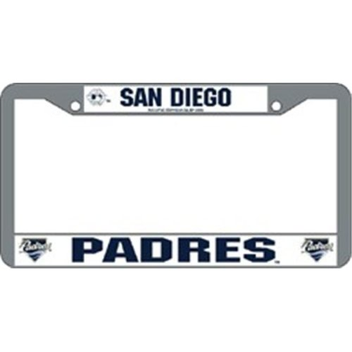 San Diego Padres Chrome License Plate Frame