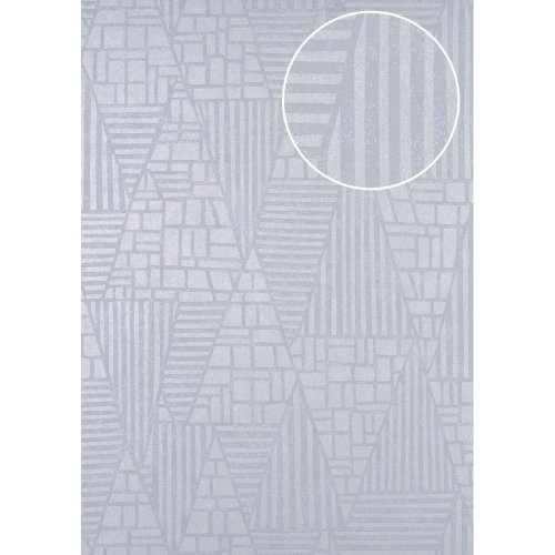 ATLAS HER-5138-3 Graphic wallpaper shimmering ivory pearl grey 7.035 sqm
